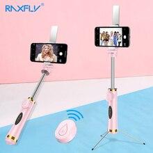 RAXFLY بلوتوث صغير Selfie عصا طوي ترايبود مرآة عن بعد Selfie عصا ل IOS آيفون X 8 7 Plus شاومي سامسونج أندرويد