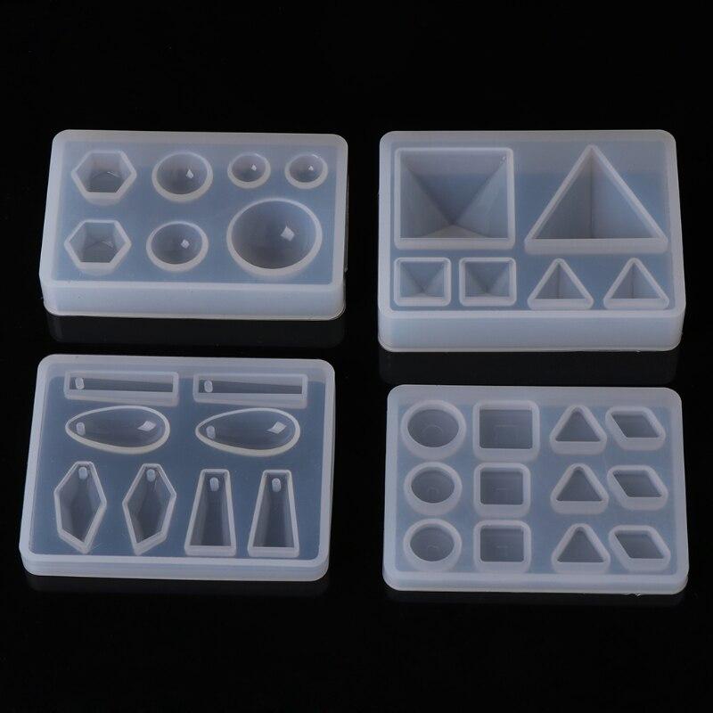 Silicone Resin Mold DIY Geometric Triangle Mirror Craft Jewelry Making Decorative Cake Jewelry Tools