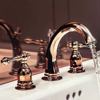 The Contemporary German eight inch three European hot basin faucet Rose Gold Antique bathroom wash basin faucet