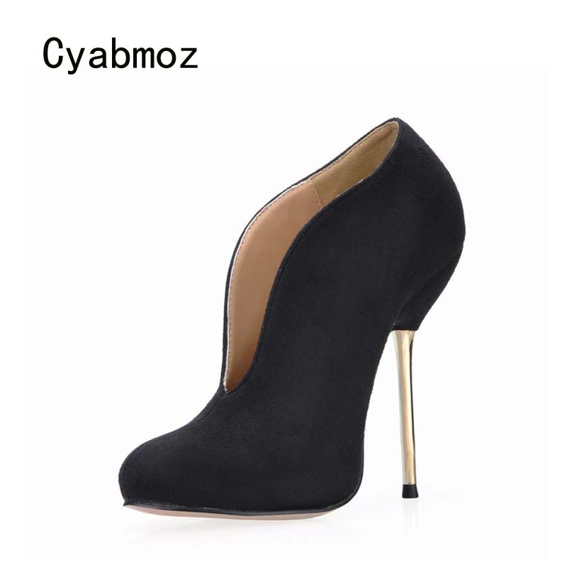 Cyabmoz Women Ankle boots Shoes Woman High heels Winter Womens Ladies Party Dress Valentine Shoes Zapatos Botas Mujer Invierno