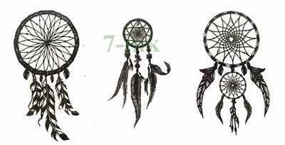 Waterproof Temporary Tattoo sticker  dreamcatcher dream catcher  tattoo Water Transfer fake henna tattoo for gril woman man