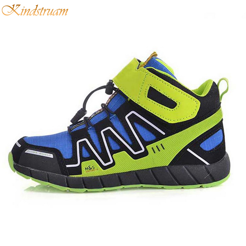 2016 New Arrival Boys Girls Patchwork Sport Shoes Kids Brand Antiskid Sneakers High Quality Outdoor Shoes