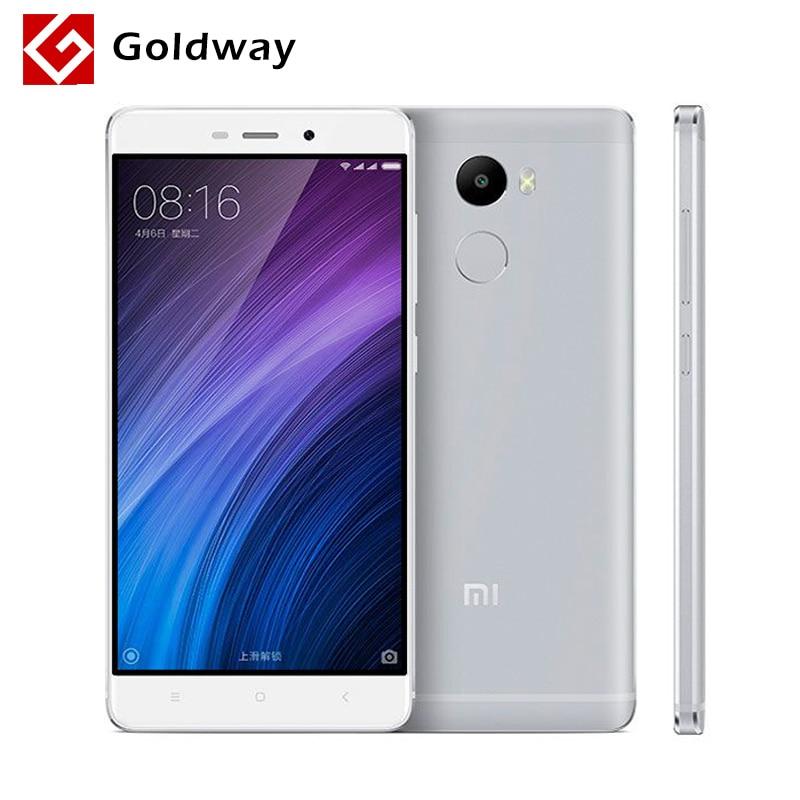 "Original Xiaomi Redmi 4 Mobile Phone Snapdragon 430 Octa Core CPU 2GB RAM 16GB ROM 5.0"" 4100mAh Fingerprient ID 13.0MP Camera"
