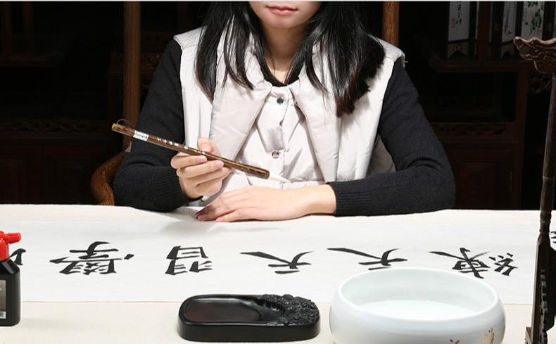 Escrita Regular Script Escrito Escovas de Lã E Cabelo Fuinha Pincel