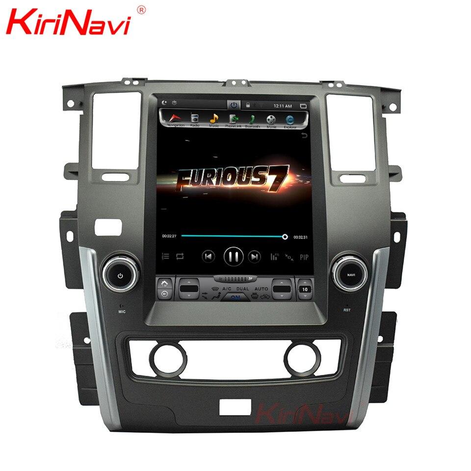KiriNavi Vertical Screen Tesla Style 12.1 Inch Android 6.0 Car DVD for Nissan Patrol Radio Wifi GPS Navigation Bluetooth 2010+