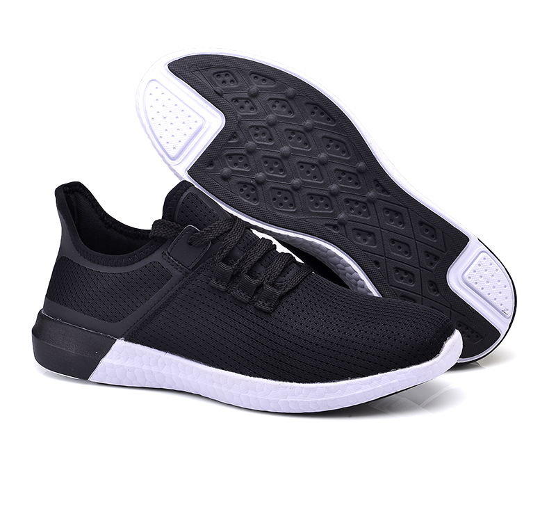 UNN Unisex Running Shoes Men New Style Breathable Mesh Sneakers Men Light Sport Outdoor Women Shoes Black Size EU 35-44 38