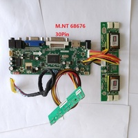 kit for M220EW01 V2 Screen Panel 30pin Controller board M.NT68676 DIY 1680X1050 HDMI Driver LVDS 4 lamps 22 VGA DVI