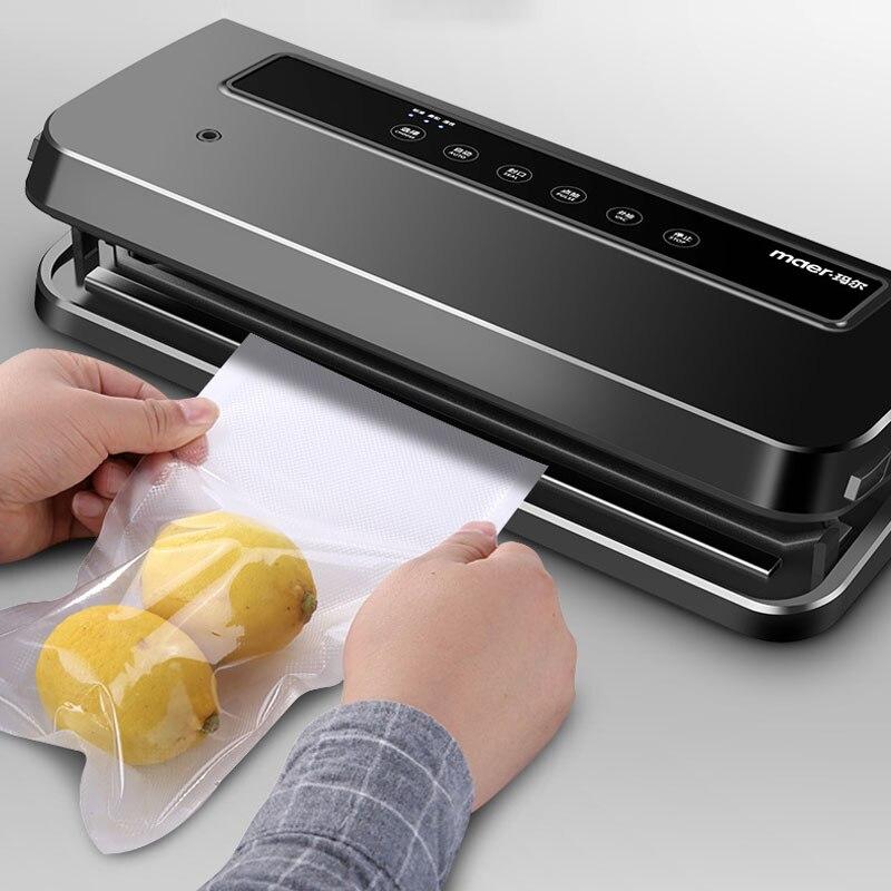 Máquina de envasado al vacío eléctrica para Cocina Casera 220 V 120 W sellado al vacío de alimentos-in Selladoras de alimentos al vacío from Electrodomésticos    1