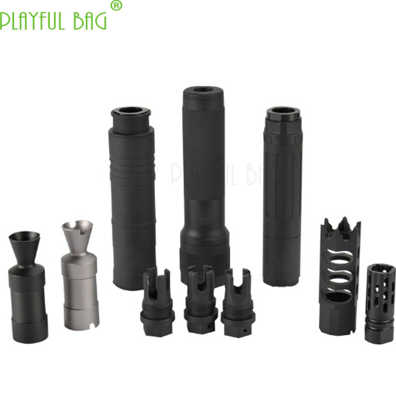 Jinming AK Upgrade Material Fire Cap Muffler 14mm Reverse Teeth Jinming11 Renxiang AK47 Water Bullet Gun Refitting Parts MI97