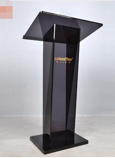 Free Shipping  60*45*110cm Acrylic Pulpit Aluminum Podium Frosted Lectern Church School Conference Acrylic Podiums Lecterns