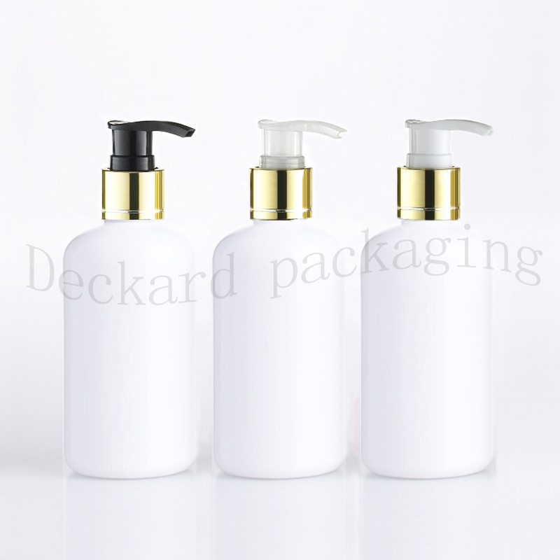 20pcs 250ml empty white plastic lotion bottles liquid soap pump container for personal care lotion pump