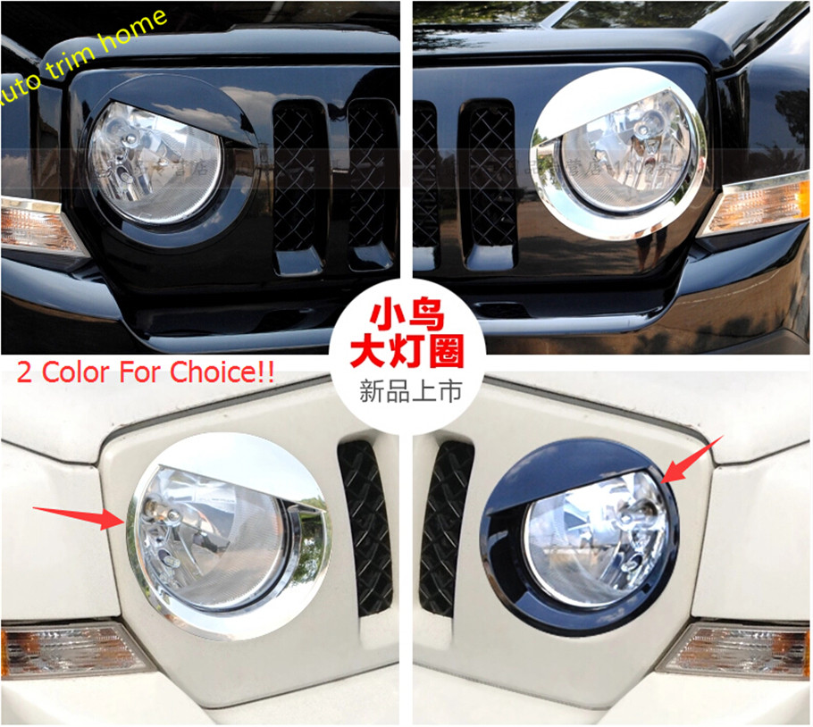 ФОТО NEW Style! For jeep patriot 2011 - 2013 Fashion Front Headlight Cover Trim / 2 Color For Choice