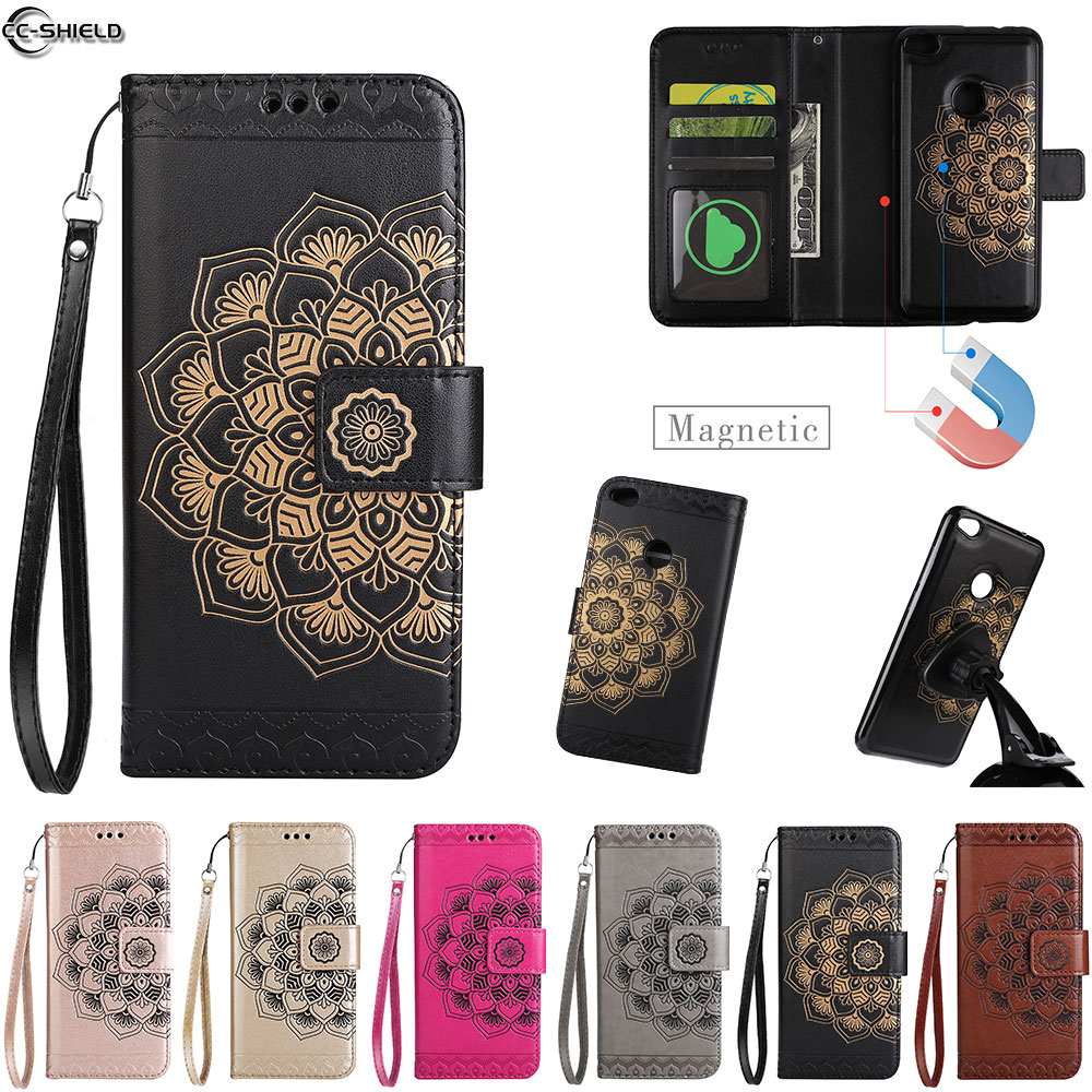 Flip Case For <font><b>Huawei</b></font> P9 Lite 2017 P 9 P9Lite Case Phone Leather Cover For <font><b>PRA</b></font>-<font><b>LX1</b></font> <font><b>PRA</b></font>-LA1 <font><b>PRA</b></font> <font><b>LX1</b></font> LA1 wallet Dual Use Split Bag image