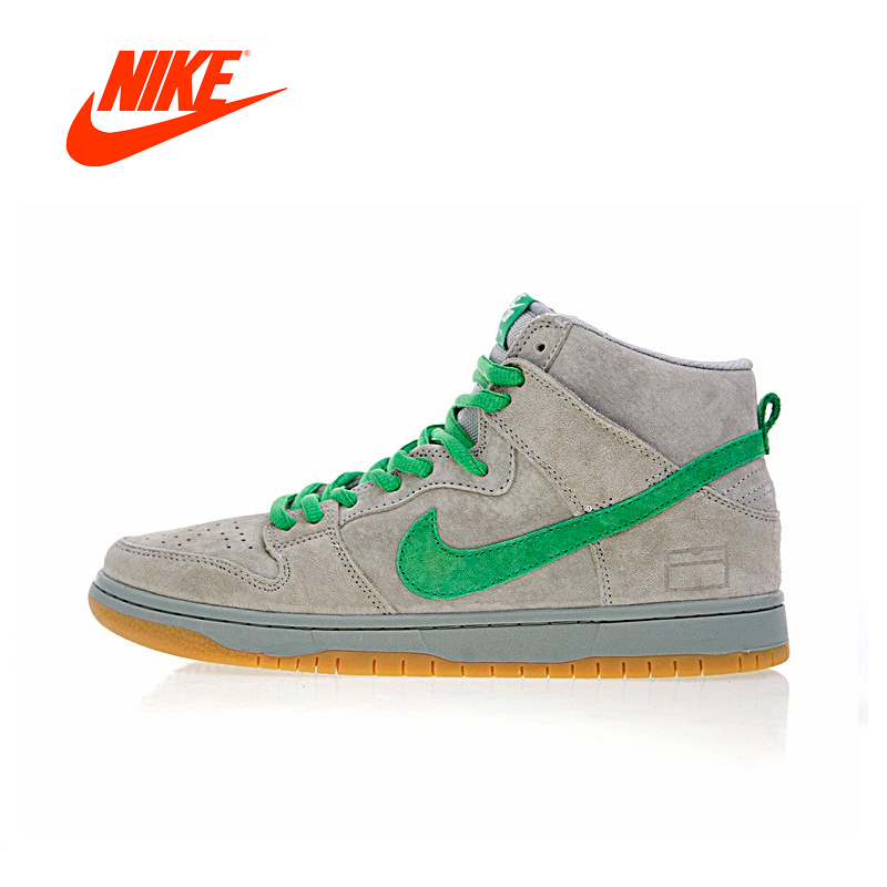 Original New Arrival Authentic Nike SB Dunk High Premium Men's Skateboarding Shoes Sneakers Grey Box Good Quality 313171-039
