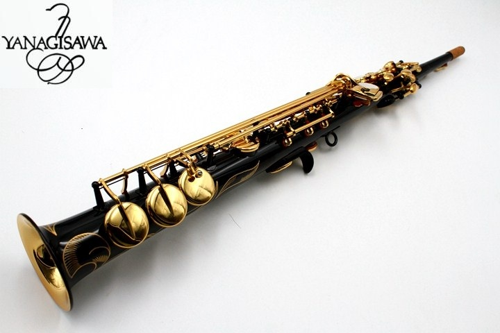 Straight Yanagisawa Soprano sax Japan S901 saxophone Instrument B flat Musicl Black Nickel Soprano sax with case free shipping new japan yanagisawa s901 b flat soprano saxophone high quality musical instruments yanagisawa soprano professional shipping