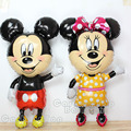 New 10pcs/lot 114*63CM large Standing mickey Minnie mouse foil balloons big helium ballon for wedding party decorations balls