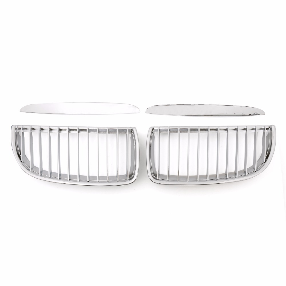 Areyourshop Car Front Kidney Grille Grill For BMW 3 Series E90 E91 325i 328i 2004 2007 Chrome ABS Car Styling Cover Guard