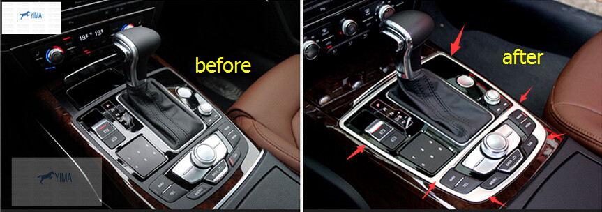 Accessories For Audi A6 A6L A7 2012 2016 Stainless Steel Gear Panel