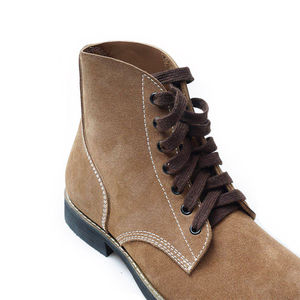 Image 2 - Replica WW2 US Army GI Rough Out Ankle Boots American Leather Boots All Sizes US/406113