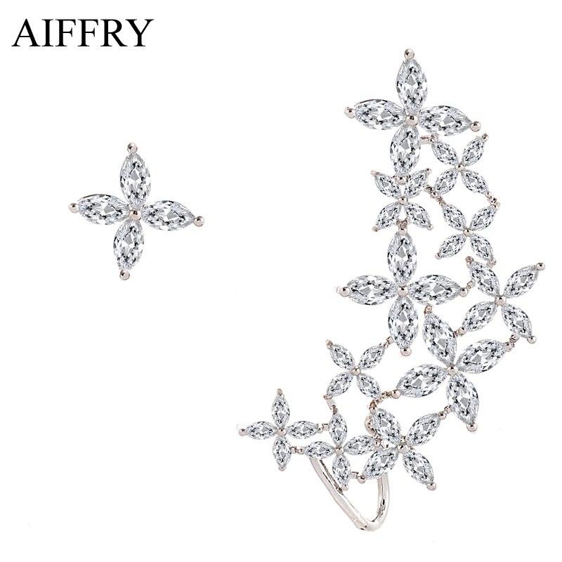 Aiffry 2017 Clover font b Crystal b font Earrings font b Luxury b font font b