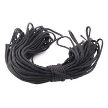 1set black 550 Popular Type III 7 Strand Parachute Paracord Cord Lanyard Mil Spec Core 100FT(China)