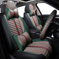 kokololee Cloth car seat covers for skoda octavia 2 a5 a7 tour fabia 1 3 karoq rapid spaceback felicia Automobiles Seat Covers