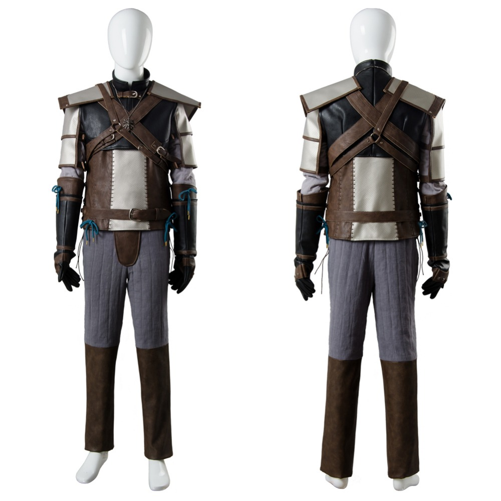 The Witcher 3 sauvage chasse Cosplay Costume adulte Geralt de Rivia tenue Cosplay Costume Halloween carnaval Cosplay Costume ensemble complet