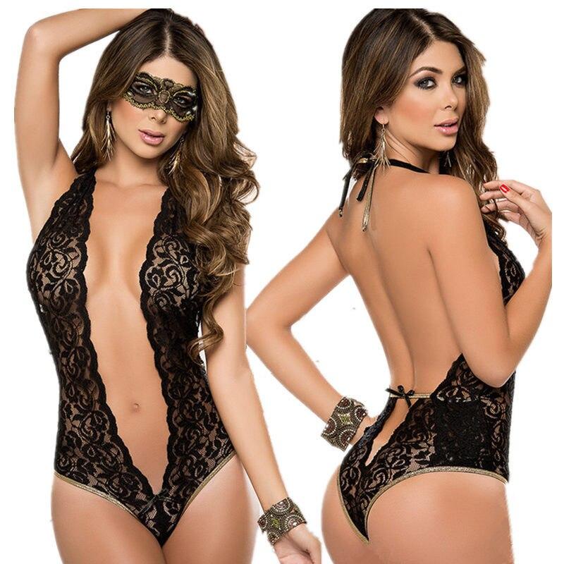 Porno Babydoll Sexy Lingerie Chaude Teddy Érotique Lingerie Femmes Sexy Costumes Sous-Vêtements Sexy Vêtements De Nuit Transparente Lingerie Avec Mas