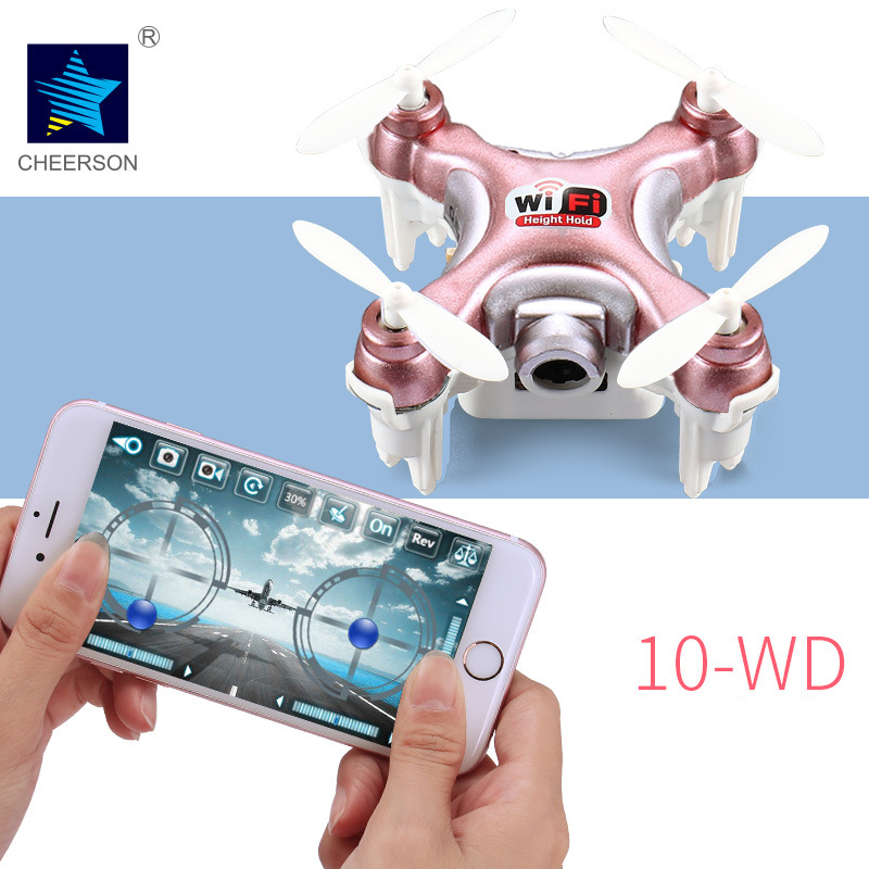 Cheerson CX-10WD BNF Mini Wifi FPV Quadcopter Drone w/ HD Camera High Hold Mode RC Nano Quadcopter RTF ( Phone Controlled ) cheerson cricket cx 17 mini wifi fpv rc quadcopter rtf black