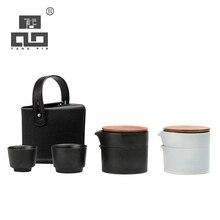 TANGPIN japanese ceramic teapot gaiwan teacups portable travel tea sets with bag