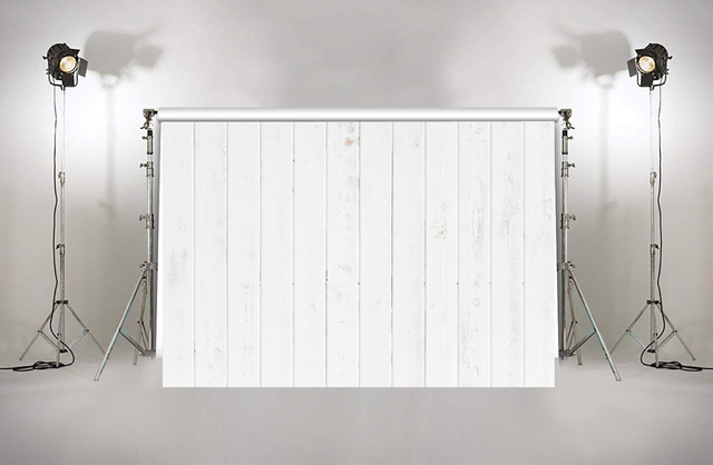White Wooden Wall Photo Backdrop Wedding Cake Table Banner Plank
