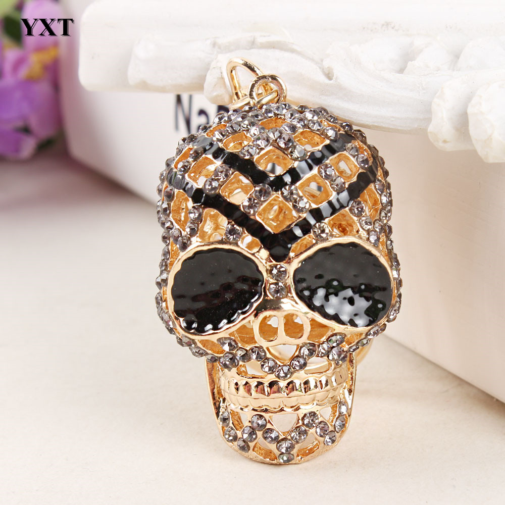 New Design Skull Heads Mesh Lovely New Cute Crystal Charm ...