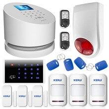Bezprzewodowy system alarmowy gsm kerui domu sklep biuro wysokiej jakości sucerity wifi gsm pstn system alarmowy z wireless flash keyboad syreny