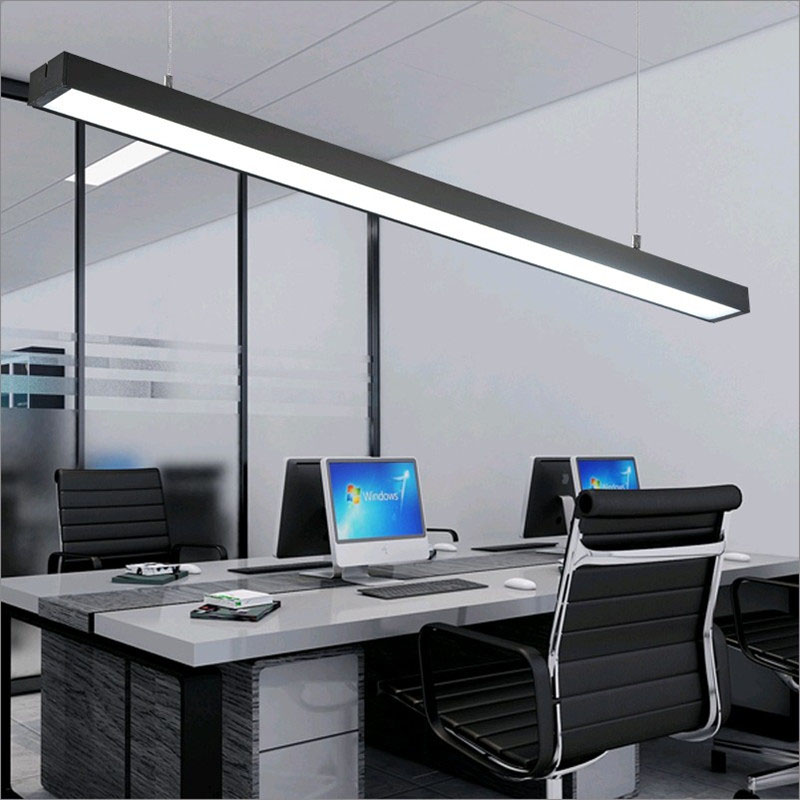 office chandeliers. online shop office chandeliers led strip lights building creative aluminum rectangular hanging line lamps fixture aliexpress mobile v