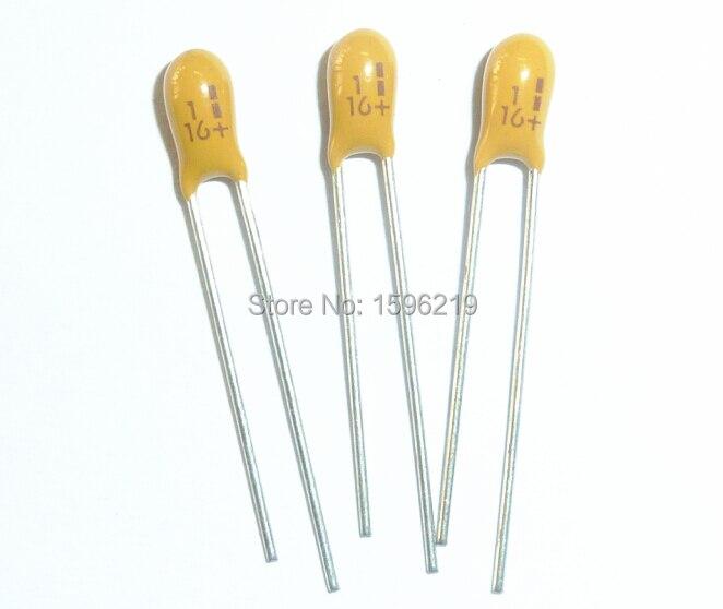 20pcs 50V 1uf 50V Radial DIP Tantalum Capacitor