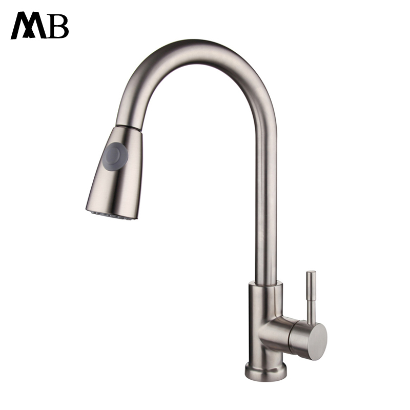 Pull Out Kitchen Faucets 2 Ways Water Outlet Taps Mixer