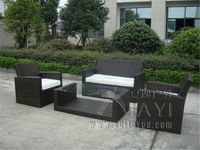 4 Pcs Cane Sofa Pastoralism Home Indoor Outdoor Rattan Sofa For Living Room
