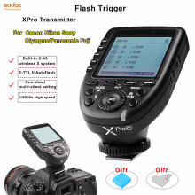 купить Godox Xpro-C/N/S/O/F Flash Trigger Transmitter wireless 2.4G TTL flash synchronizer For Canon Nikon Sony Olympus Panasonic Fuji по цене 5145.36 рублей