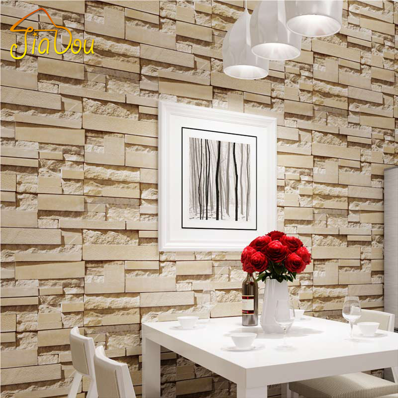 D Living De 4 color 3d rock wallpaper vintage 3d brick mural