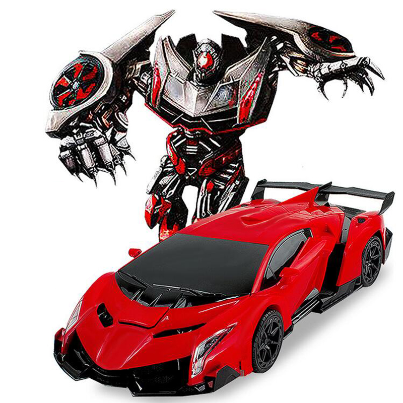 Remote Control Kids Car >> Free Shipping Luxury Sports Car Models Deformation Robot Transformation Remote Control RC Car ...