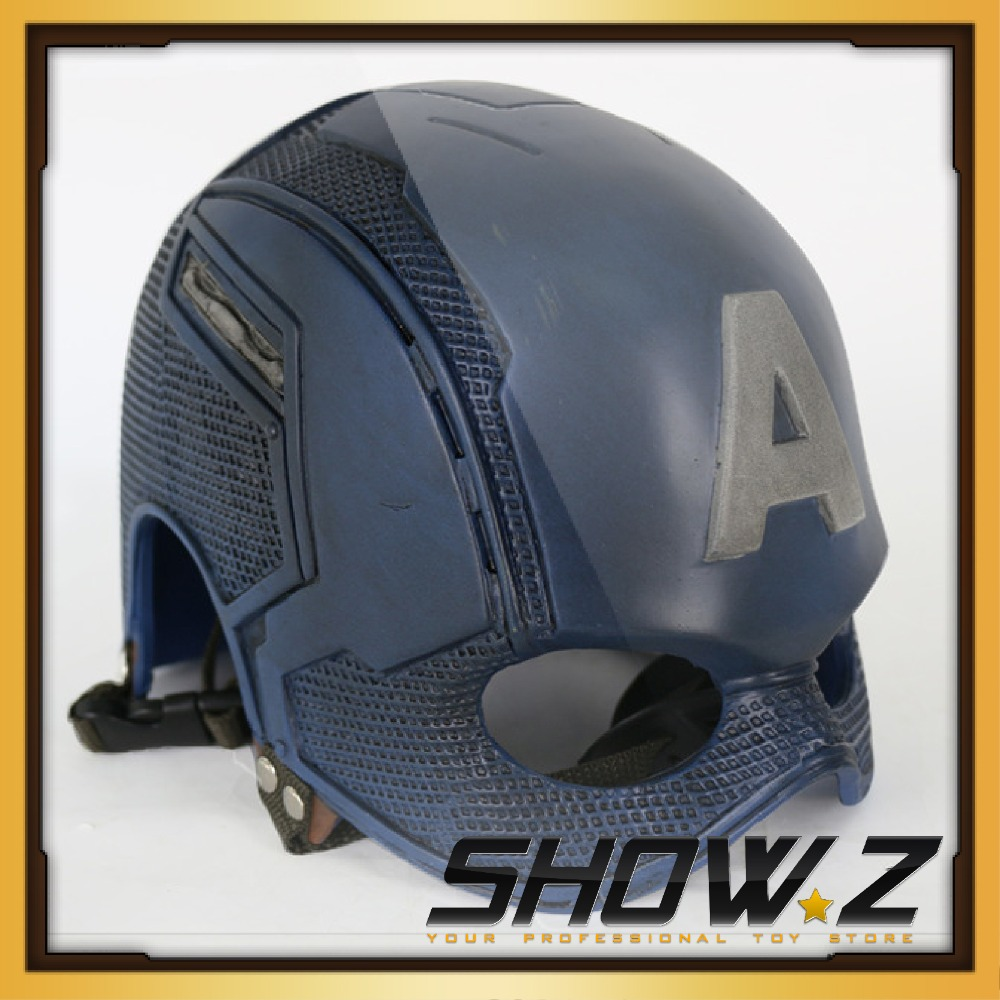 [Show.Z Store]Custom Made Captain America Helmet 1:1 Steve Rogers Cosplay Mask WEARABLE Helmet Replica Prop 2016 movie cosplay captain america civil war helmet cosplay black panther helmet t challa helmet mask party halloween prop