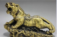 Chinese Palace Brass Copper Feng Shui Evil spirits Money wealth Tiger God Statue