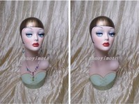High Quality Fiberglass Vintage Female Mannequin Dummy Head , Manikin Heads Hat Display