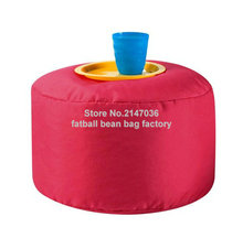 Red bean bag footstool, tea port beanbag cushion