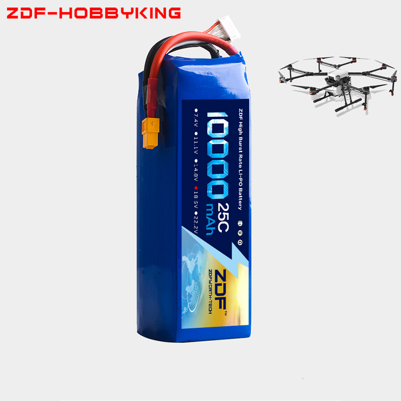 2018 ZDF RC LiPo Battery 18.5V 10000mAh 25C 5S FOR RC Airplane Drone Quadrotor Helicopter Car Boat Li-ion Batteria AKKU 2018 zdf power li polymer lipo battery 3s 11 1v 10000mah 25c max 50c for helicopter rc model quadcopter airplane drone