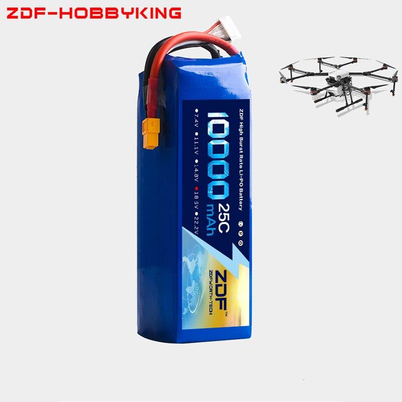 2018 ZDF RC LiPo batterie 18.5 V 10000 mAh 25C 5 S pour RC avion Drone Quadrotor hélicoptère voiture bateau Li-ion Batteria AKKU