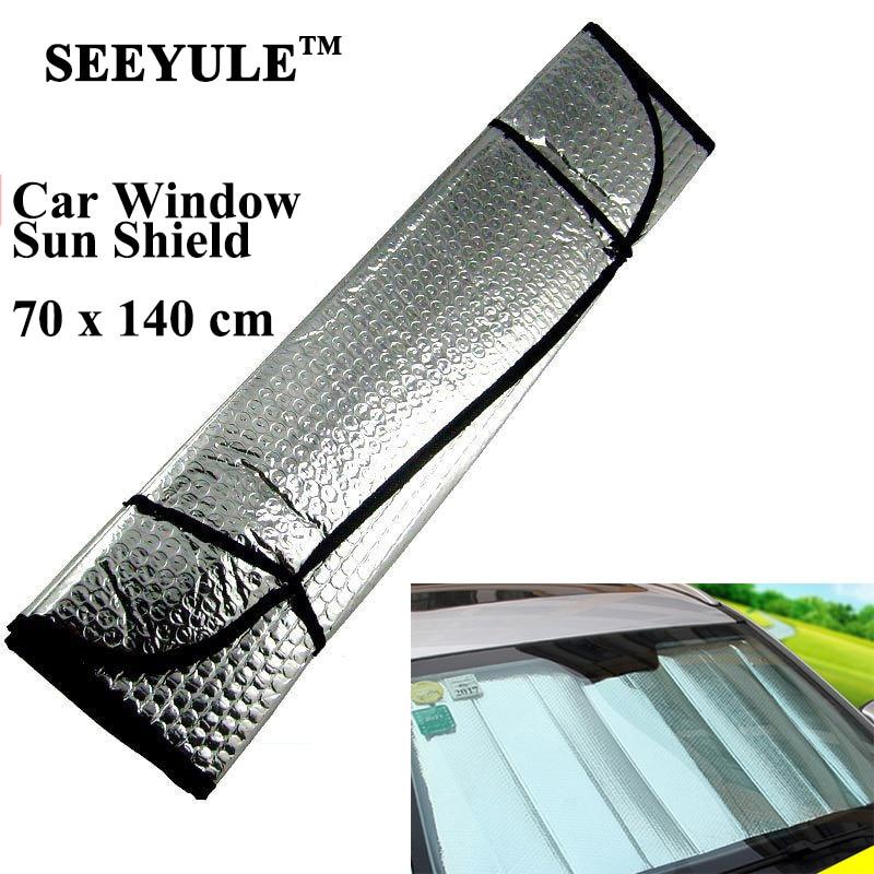1пц СЕЕИУЛЕ 70 * 140цм предње вјетробранско стакло сјенило за заштиту од сунца штитник склопиви стражњи прозор сунцобран алуминијумска фолија фолија