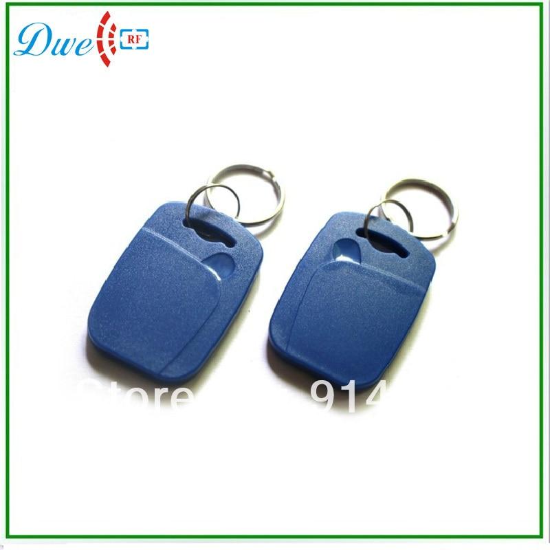 DWE CC RF 50pcs/lot  125khz TK4100 EM-ID Access Control ABS Rfid Keyfob  Passive Key Tag Keychain Card