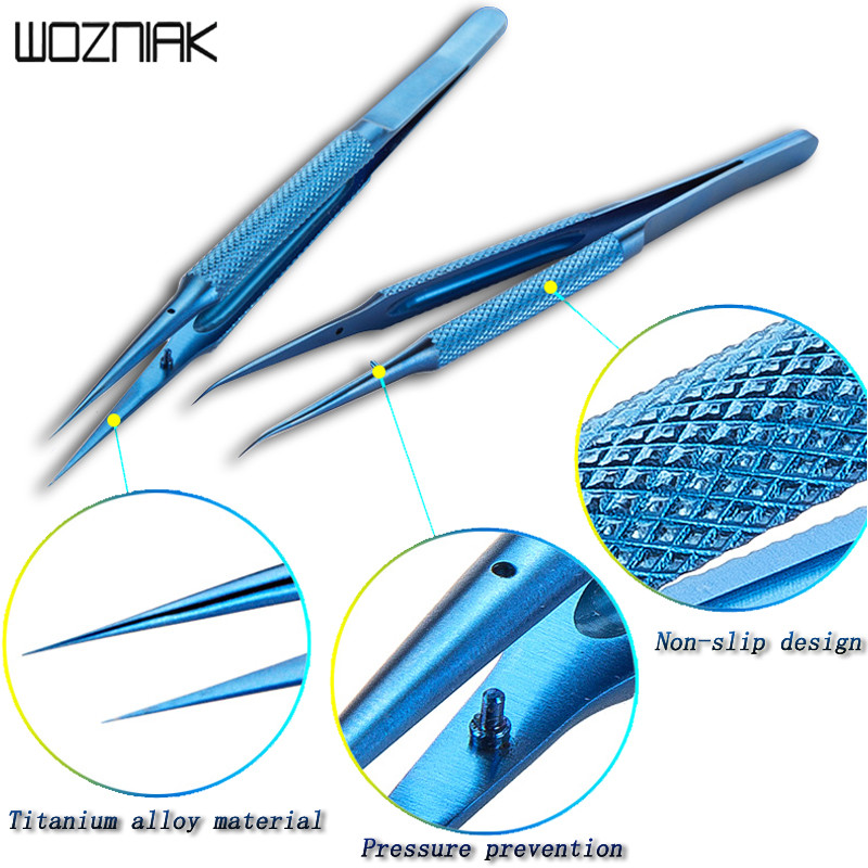 0.15 Mm Repair Fly Line Fingerprint Tweezers Titanium Alloy Fingerprint Tweezers And 0.02 Mm Motherboard Fly Line Maintenance