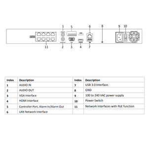 Image 5 - الأصلي هيكفيجن NVR DS 7608NI I2/8 P 4K شبكة مسجل فيديو 8CH 2SATA 8 PoE ميناء H.265 التوصيل والتشغيل nvr هيكفيجن ل CCTV